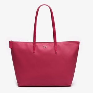 NEW LACOSTE Women's Tote Bag In Sangria⭐️⭐️⭐️⭐️
